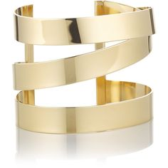 Isabel Marant Étoile Gold Brass Cuff Bracelet ($230) ❤ liked on Polyvore featuring jewelry, bracelets, accessories, rings, yellow gold bangle bracelet, gold cuff bangle, cuff bracelet, gold jewelry and gold bracelet bangle