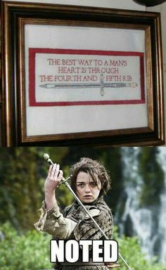 Subversive cross stitch: The best way to a man's heart is through the fourth and…