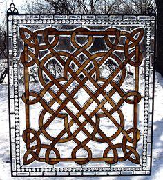 Celtic stained glass Celtic Stained Glass, Stained Glass Designs, Stained Glass Projects, Stained Glass Patterns, Stained Glass Art, Stained Glass Windows, Leaded Glass, Beveled Glass, Mosaic Glass