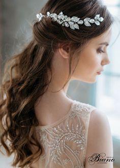 Leaf Hair Comb Wedding Headpiece Grecian Head by BianoAccessories