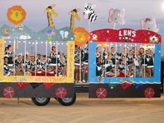 circus theme parade float ideas | ... are put in giant cages for their circus animal themed float