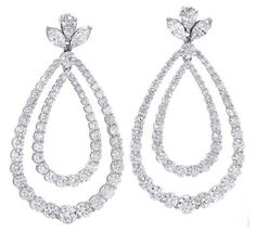 Norman Silverman Diamonds Drop Earrings as seen on Chrissy Teigen Oscars 2015