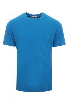 Crew Neck Medusa Logo T Shirt