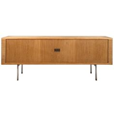 Hans J. Wegner Oak Sideboard RY25 with tambour doors, ca.1960 | From a unique collection of antique and modern sideboards at http://www.1stdibs.com/furniture/storage-case-pieces/sideboards/