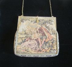 Vintage Petit Point Purse 1900s Purse Formal by PowerOfOneDesigns, $124.99