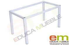 #Patas de #mesa #infantil de 74 cm - #Estructura metálica para mesa. La tapa de la mesa se vende por separado. Tienda Educamueble