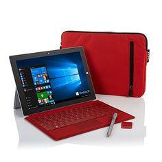 "Microsoft Surface 3 10.8"" Win 10 64GB Tablet Bundle"