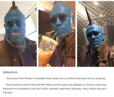 Pics of Michael Rooker's live stream, with him in Yondu costume Marvel Funny, Marvel Memes, Marvel Dc Comics, Yondu Udonta, Gardians Of The Galaxy, Merle Dixon, Michael Rooker, Kevin Bacon, Peter Quill