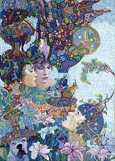 Explore amazing art and photography and share your own visual inspiration! Images D'art, Art Fantaisiste, Madhubani Art, Ecole Art, Art Et Illustration, Art For Art Sake, Russian Art, Whimsical Art, Figure Painting
