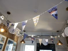 Noi bunting just for the exhibtion Exhibition Display, Frame Display, Bunting, Whale, Original Artwork, Ceiling Lights, Winter, Expo Stand, Winter Time