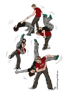 Image result for bucky and steve swing dance