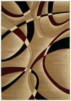 United Weavers of America Contours La Chic Burgundy Area Rug, Red