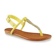 f0b08c303e9a Bongo Women s Wasabi Black Gold T-Strap Sandal T Strap Sandals
