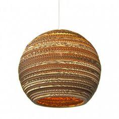 .@Graypantsstudio's elegant lamps prove mind > matter. Can you believe it's cardboard?! Found at @dezeen.