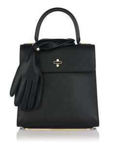 V23D4 Charlotte Olympia Bogart Leather Top Handle Bag, Black