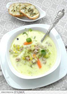 Zupa z porów i mięsa mielonego SKŁADNIKI: 30 dag mielo… na Stylowi.pl
