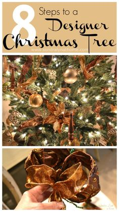 Decorate your Christmas Tree like a designer! Follow these 8 Steps to a Designer Tree- Sondra Lyn at Home
