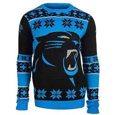 93d64938ecd NFL Football 2015 Big Logo Ugly Crew Neck Holiday Sweater - Pick Team (Carolina  Panthers