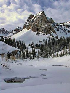 a frozen Lake Blanche in the Twin Peaks Wilderness, Utah  http://www.facebook.com/write2rj