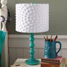 Pottery Barn Chenille Dot Lamp Shade
