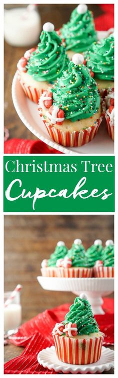 I love these Christmas Tree Cupcakes! They're so cute and great to make with the kids! Plus they're easier than they look and are such a fun and festive dessert for holiday parties! #TheDessertDebate #ad