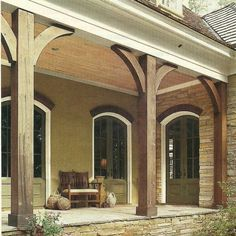 thick front porch columns - Google Search