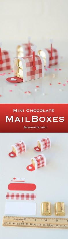 Mini chocolate mailboxes- an adorable Valentine's Day treat. Fun craft to do with the kids!
