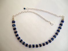 Beaded choker in flower pattern with seed beads by JoolsbyAveril