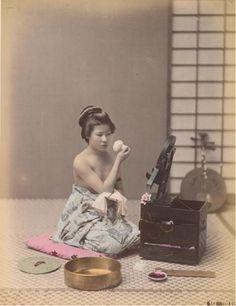 """Kusakabe Kimbei, """"Toilet"""", 1880s"""