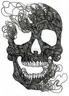 "Image Spark - Image tagged ""illustration"", ""skull"", ""pen and ink"" - melponeme Illustrations, Illustration Art, Rock Tumblr, Fish Monger, Inspiration Art, Skull And Bones, Skull Art, Skull Icon, Art Plastique"