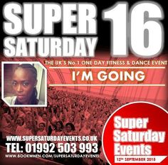 Of course I'm going!!!! I missed Super Saturday ONCE and I vowed I'd NEVER do that again! Who's with me? Not booked yet? C'mon now get on it you even get a discount if you use my code SJ