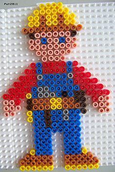 Bob the Builder perles hama beads - Les loisirs de Pat