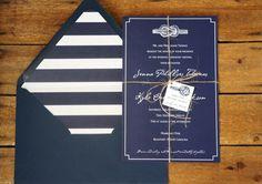 Nautical Knot Wedding Invitation Sample by DawnCorrespondence, $5.00