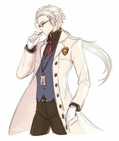 Zen, Hyun Ryu, cool, outfit, glasses, trench coat; Mystic Messenger