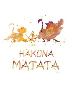 Lion King Hakuna Matata Print Watercolor Art The Lion King Poster Disney Printable Disney Gift Lion Wallpaper Iphone Disney, Cute Disney Wallpaper, Cartoon Wallpaper, Art Roi Lion, Lion Art, Lion King Poster, Lion King Art, Watercolor Lion, Watercolor Disney