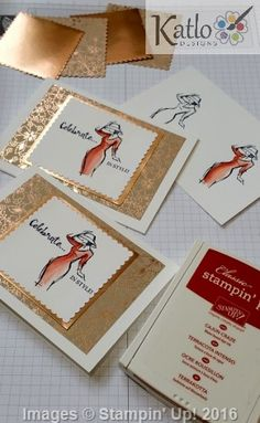 Kathryn Ruddick - Stampin' Up! Independent Demonstrator Australia: Fashion Design in Cardmaking! Beautiful You cards