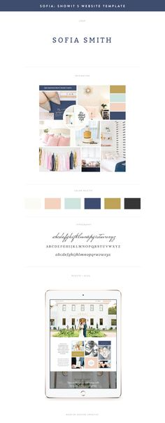 Elegant, Intimate, Friendly, Classy, Natural. A Showit 5 Website Template for female photographers and creative entrepreneurs.  Designed by Seaside Creative.