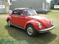 A classic 1978 Volkswagen Beetle (left) was sold byRepocast for $9,150, along with the Fo...