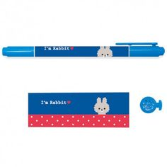 Twin Tip Fun Friends Marker I'm Rabbit - Dark Blue (◕ᴥ◕) Kawaii Panda - Making Life Cuter