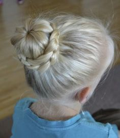lace braid bun #lace_braid_bun