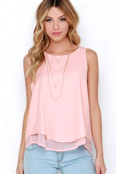 Riddles and Giggles Peach Top at Lulus.com!