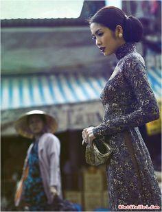 Vẻ đẹp mong manh của Hà Tăng trong tà áo dài