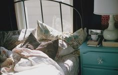 Love The Headboard. And The Bed Placement In Front Of A Window.