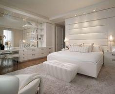Schlafzimmer Ideen in Weiß - 75 moderne Einrichtungsbeispiele