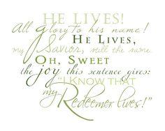 LDS Easter Wordart