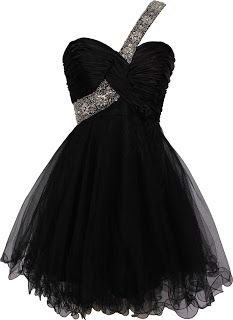 Black prom dresses - short evening gown