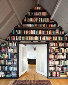 Creative storage solutions. | The 23 Best Parts Of Being A Book Lover