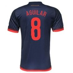 27e59561b Colombia national team 2015 Away Navy Aguilar  8 Soccer Jersey Colombia  national team 2015 Away Navy Aguilar  8 Soccer jerseys