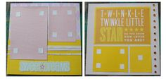 "Pre-made baby girl scrapbook pages - ""Twinkle Twinkle Little Star, do you know how loved you are?"""