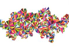 Greg Lamarche Velocity, 2011 Hand cut paper collage 15 x 20 in. Street Art, Torn Paper, Collage Artists, Art Abstrait, Paper Art, Cut Paper, Paper Collages, Geometric Art, Graffiti Art